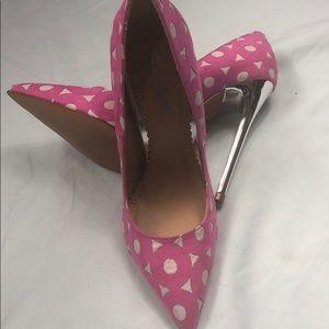 Pink Alba Metallic Heels